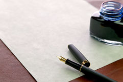 Business marketing letter stock image