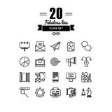 Business and marketing line icons set Stock Images