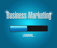 Business Marketing loading bar sign concept Stock Image