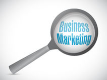 Business Marketing magnify sign concept Stock Images