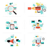 Business marketing online element for infographic Royalty Free Stock Image