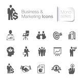 Business & marketing related icons. Royalty Free Stock Images