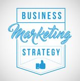 Business marketing strategy sign stamp seal illustration design. Isolared over a white background Royalty Free Stock Photo