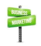 Business Marketing street sign concept Stock Photography