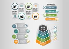 Business Marketing Template Diagram Infographics Elements with Icons royalty free illustration