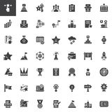Business marketing vector icons set. Modern solid symbol collection, filled pictogram pack. Signs, logo illustration. Set includes icons as profits, rating Stock Image