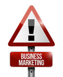 Business Marketing warning sign concept Stock Photo