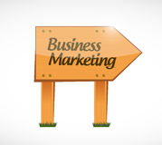 Business Marketing wood sign concept Royalty Free Stock Photography