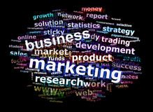 Business Marketing Word Cloud Royalty Free Stock Photos