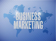 Business Marketing world sign concept Stock Photos