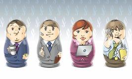 Business matrioshka stock photo