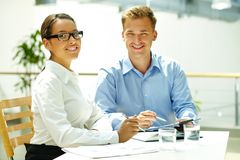 Business matters Stock Image