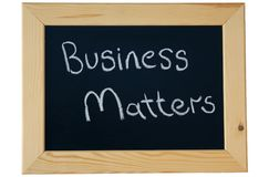 Business Matters Royalty Free Stock Photography