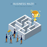 Business maze. Concept 3d isometric flat design Royalty Free Stock Photography