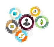 Business mechanism concept. Abstract background. Royalty Free Stock Images