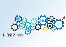 Business mechanism concept - Illustration Royalty Free Stock Photo