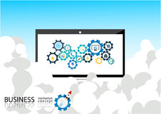 Business mechanism concept - Illustration Royalty Free Stock Photos