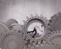 Business mechanism system Royalty Free Stock Image