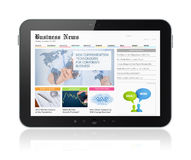 Business media on digital tablet Royalty Free Stock Photo
