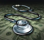 Business of medicine stethoscope healthcare profit Royalty Free Stock Images