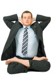 Business Meditation Stock Image