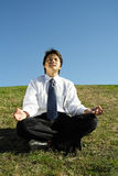Business meditation Royalty Free Stock Photo