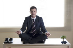 Business meditation Stock Photography
