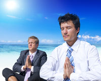 Business Meditation Beach Refreshment Concept Royalty Free Stock Images