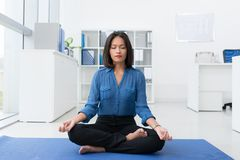 Business meditation Stock Photos