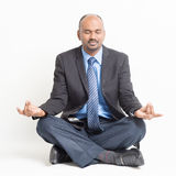 Business meditation Royalty Free Stock Photography