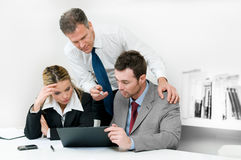 Business meeting. Business colleagues working hard together during a meeting in office Royalty Free Stock Photos
