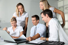 Business meeting. Group of business people meeting in the office Royalty Free Stock Photos