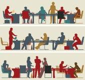Business meeting stock illustration