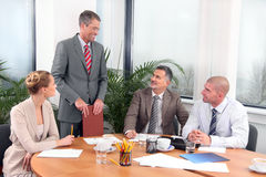 Business meeting. Business people during a meeting in office Stock Photo