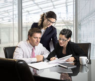 Business meeting. Young businesspeople on a meeting
