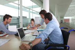 Business meeting. At the office royalty free stock image