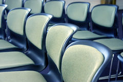 Business meeting. Office chairs lined up for a meeting stock photography
