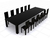 Business meeting - 3d rendering Royalty Free Stock Photos