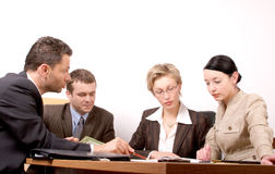 Business meeting of 4 persons royalty free stock image