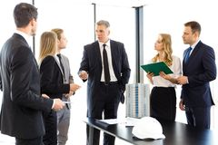 Business meeting of architects and investors Stock Photography