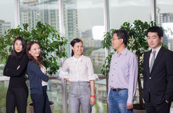 Business meeting Asian nationality people. Business meeting. Asian nationality male and woman, teamwork Royalty Free Stock Photo