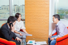 Business meeting Asian nationality people Royalty Free Stock Photography