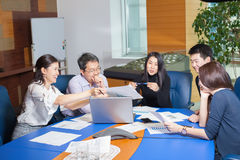 Business meeting Asian nationality people Royalty Free Stock Images