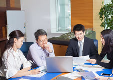 Business meeting Asian nationality people Stock Photo