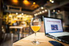 Business meeting in the bar Royalty Free Stock Images