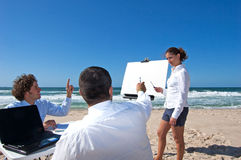 Business meeting on the beach Royalty Free Stock Photography