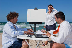 Business meeting on the beach Stock Photography