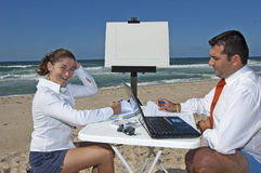 Business meeting on the beach Stock Images