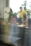 Business Meeting Behind Closed Door Stock Image