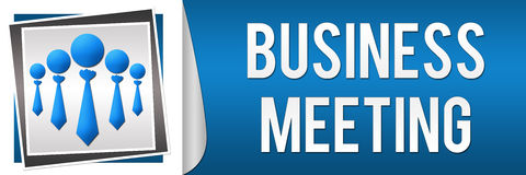 Business Meeting Blue White Banner Stock Photo